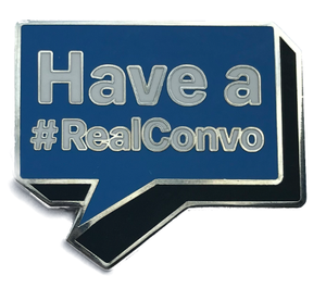 Blue #RealConvo Pin
