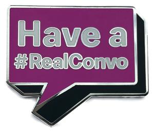 Fuchsia #RealConvo Pin