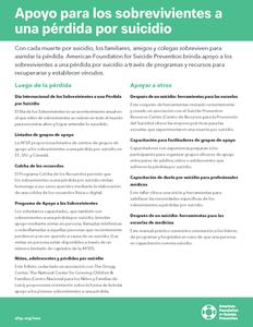 Support for Survivors of Suicide Loss Flyer - Spanish