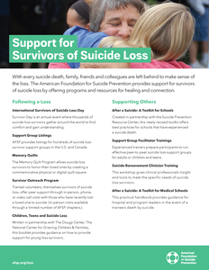 Support for Survivors of Suicide Loss Flyer