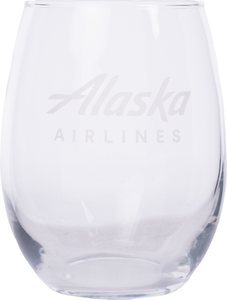 Alaska Airlines Stemless Wine Glass 15 oz
