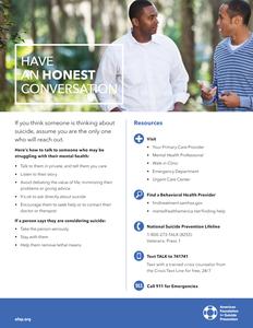 Have an Honest Conversation Flyer