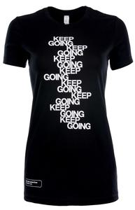 """Keep Going"" contoured tee"