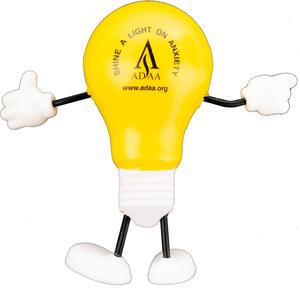 ADAA Shine a Light on Anxiety Lightbulb Stress Ball