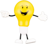ADAA Shine a Light on Anxiety Lightbulb Stress Ball image 1