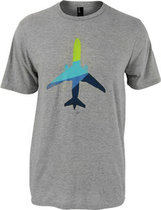 Unisex T-Shirt Short Sleeve Aura Plane