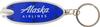 Alaska Airlines Key Chain Oval LED  image 1