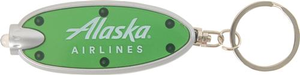 Alaska Airlines Key Chain Oval LED