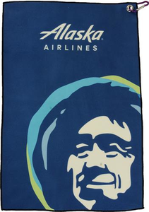 Full Color Eskimo Golf Towel with Carabiner
