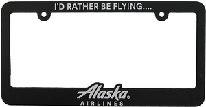 "Alaska Airlines ""I'd Rather be Flying... Alaska Airlines"" License Plate Frame"
