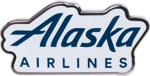 Alaska Airlines Wordmark Lapel Pin