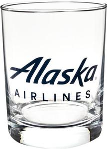 Alaska Airlines Rocks Glass 14 oz