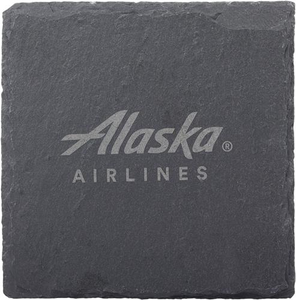 Alaska Airlines Slate Coaster