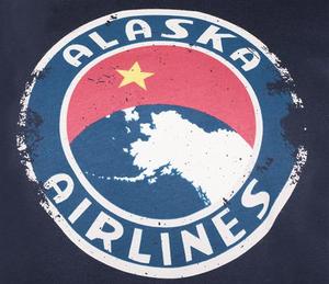 Alaska Airlines T-Shirt Unisex Heritage Vintage Insignia