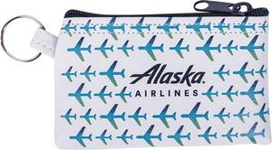 Alaska Airlines Vegan Leather Penny Keyring