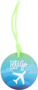 Alaska Airlines 3in Circle DieCut Luggage Tag
