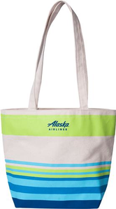 Alaska Airlines Striped Tote