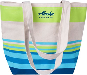 Alaska Airlines Tote Striped