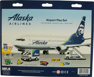 Alaska Airlines 12 Piece Airport Play Set