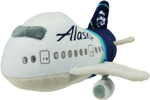 Alaska Airlines Plush Airplane w/ Sound