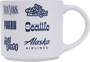 Alaska Airlines Destination Mug 14 oz