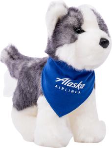 Alaska Airlines Plush Husky