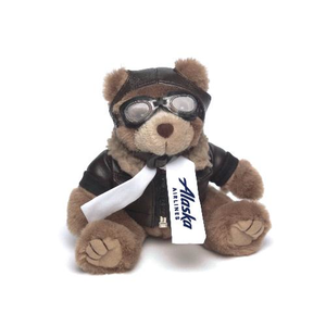 "8"" Aviator Plush Bear"
