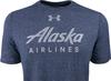 Alaska Airlines T-shirt Mens Under Armour Threadborne  image 3
