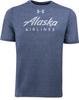 Alaska Airlines T-shirt Mens Under Armour Threadborne  image 1