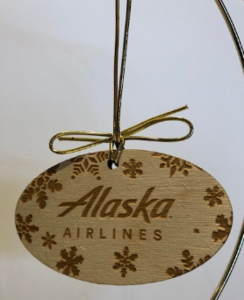 Alaska Airlines Wood Ornament