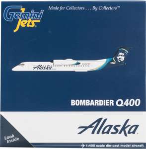 Alaska Airlines Horizon Bombardier Q400 Dash 8 1/400 Model\