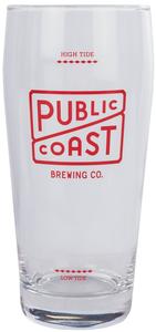 Public Coast Brewing High Tide Glass