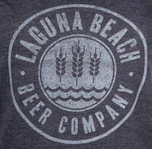 Women's Laguna Beach Beer Circle Logo V-Neck Tee