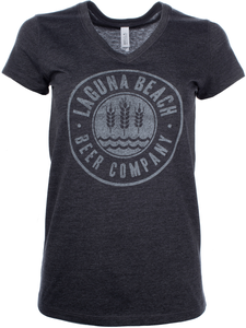 Women's Laguna Beach Beer Circle Logo V-Neck Tee