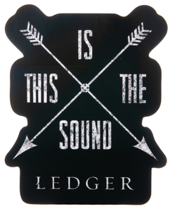 This Is The Sound Arrow Sticker