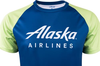 Alaska Airlines Running Shirt Mens Short Sleeve image 3