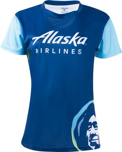 Alaska Airlines Running Shirt Ladies Short Sleeve
