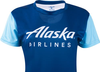Alaska Airlines Running Shirt Ladies Short Sleeve image 3