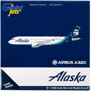 Alaska Airlines A320 New Livery 1/400 Model