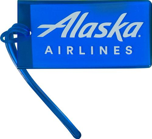 Alaska Airlines Luggage Tag Blue