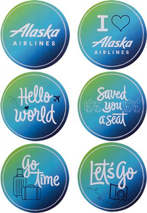 Alaska Airlines Sticker Sheet