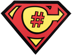 C# Superman Sticker - Bundle of 10