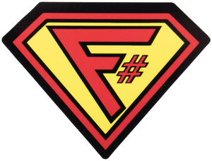F# Superman Sticker - Bundle of 10
