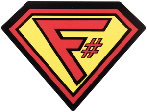 F# Superman Sticker - Bundle of 25