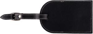Alaska Airlines Luggage Tag Leather Black