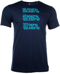 Alaska Airlines T-Shirt Unisex Coordinates
