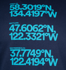 Alaska Airlines T-Shirt Unisex Coordinates image 3