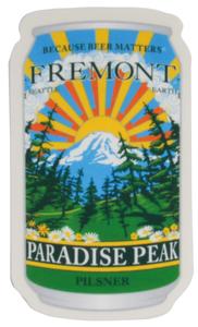 Paradise Peak Pilsner Can Sticker