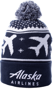 Alaska Airlines Beanie with Pom