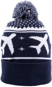 Alaska Airlines Pom Knit Beanie